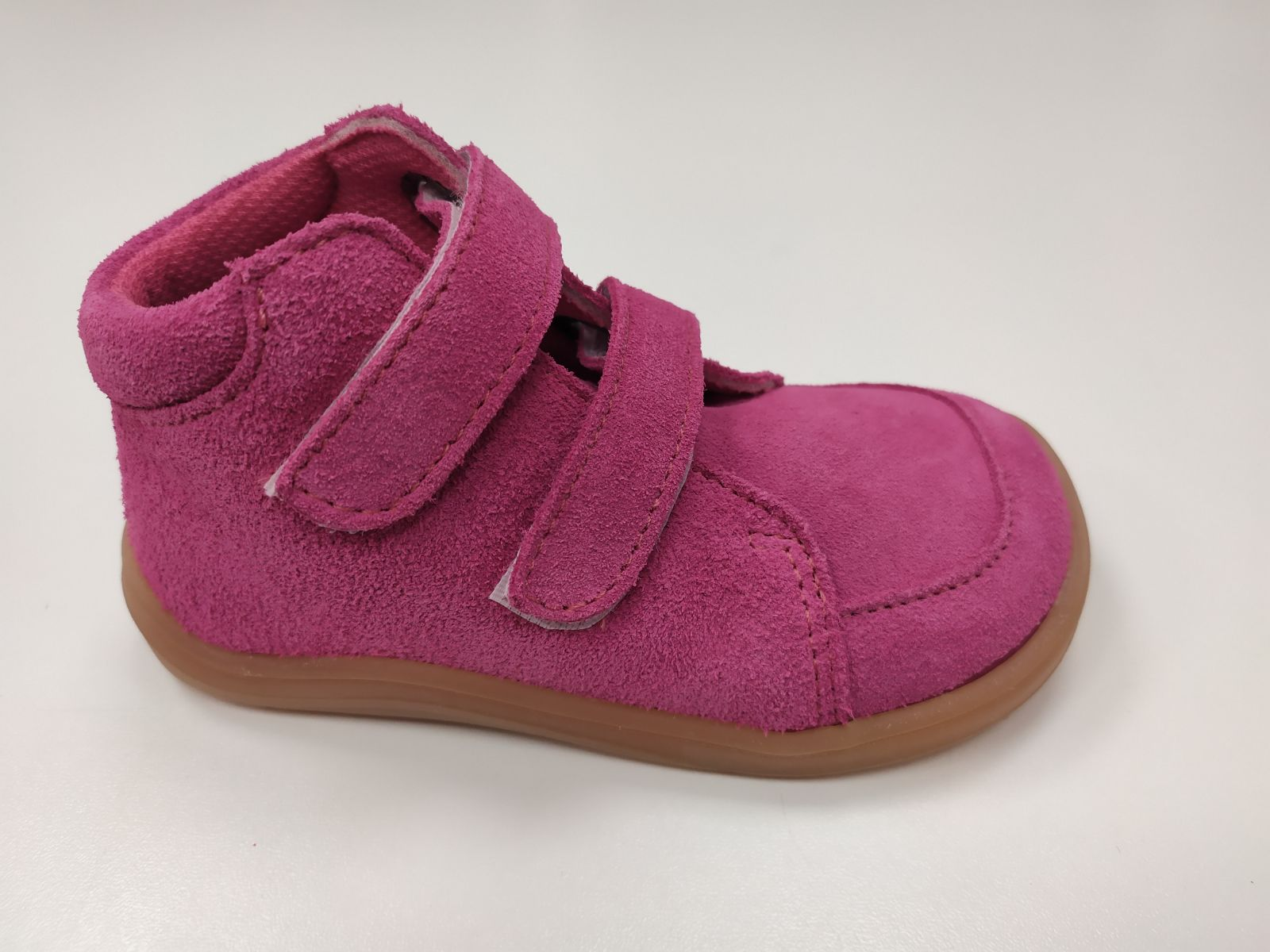 Barefoot Baby bare shoes Febo Fall Fuchsia Velour bosá