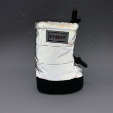 Barefoot Barefoot boty Stonz Baby Puffer Booties - Reflective Silver bosá