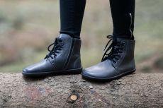 Barefoot Barefoot kotníkové boty Be Lenka Nord – Charcoal bosá