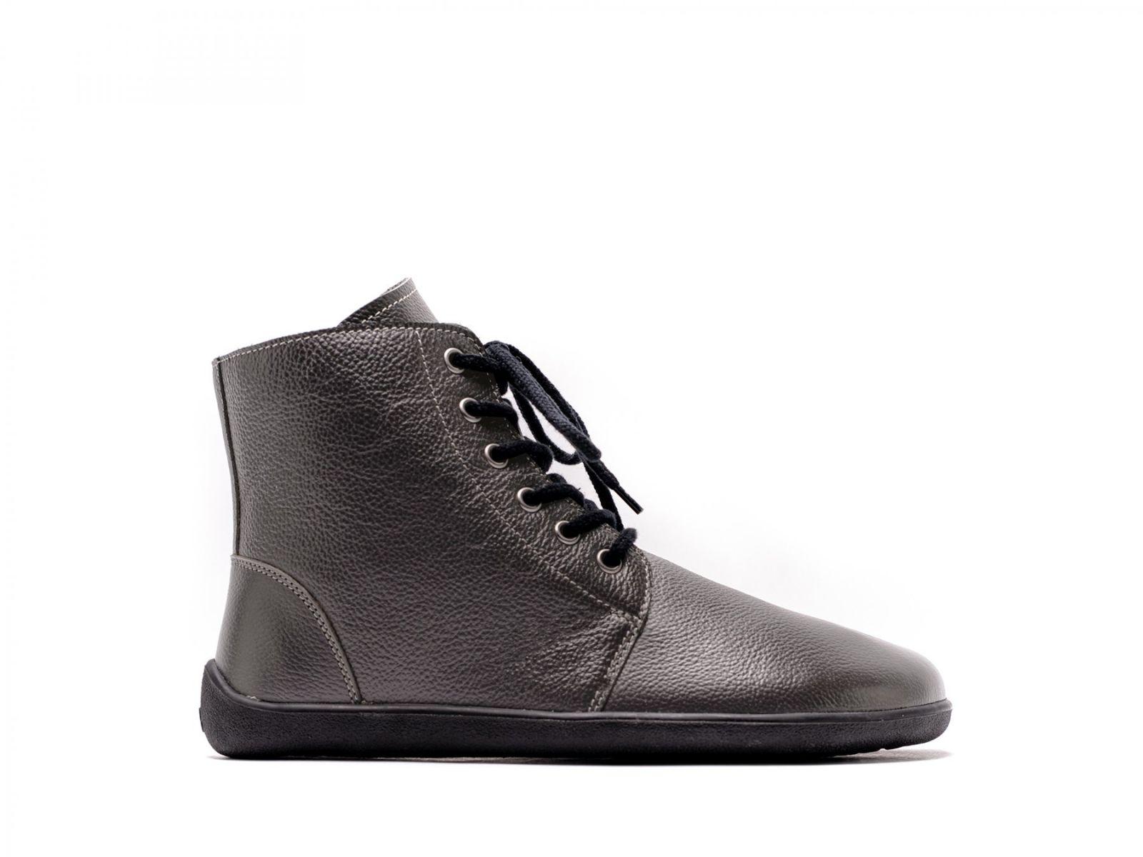 Barefoot členkové topánky Be Lenka Nord - Charcoal