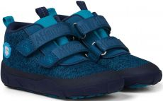 Barefoot Dětské barefoot botičky Affenzahn Minimal Lowboot Knit Bear - Blue Sappore bosá