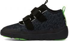 Dětské barefoot botičky Affenzahn Minimal Lowboot Knit Panther - Grey/Black