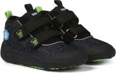 Detské barefoot topánočky Affenzahn Minimal Lowboot Knit Panther - Grey / Black   23, 24, 25, 26, 28, 29