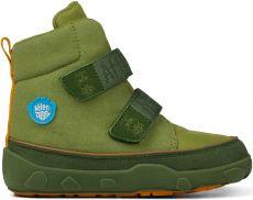 Dětské barefoot botičky Affenzahn Minimal Midboot Vegan Dragon - Green