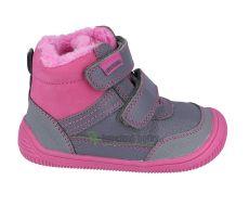 Protetika zimní barefoot boty Tyrel fuxia