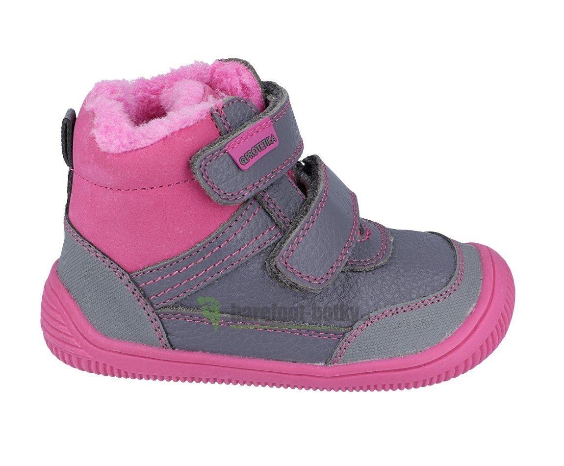 Barefoot Protetika zimní barefoot boty Tyrel fuxia bosá