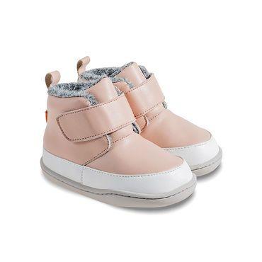 Barefoot Zimní botičky Little Blue Lamb Big pink bosá