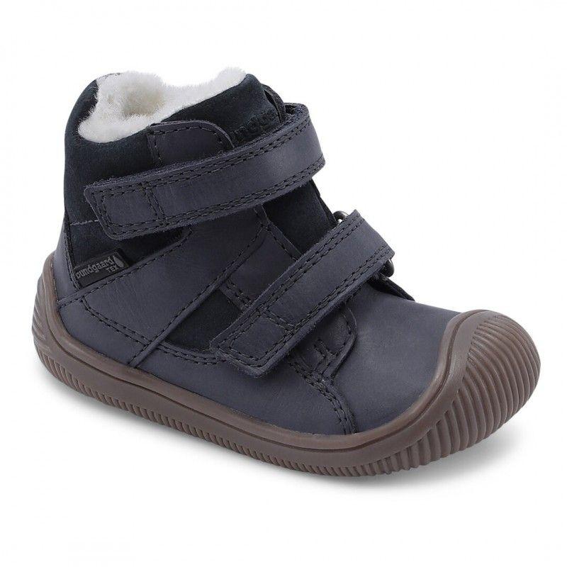 Barefoot Zimní boty Bundgaard Walk Velcro Tex night sky bosá