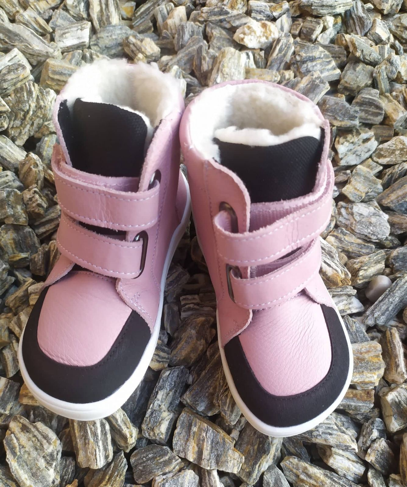 Barefoot BABY BARE WINTER Candy OKOP ASFALTICO BABY BARE SHOES bosá