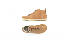 Barefoot Barefoot boty MUKISHOES High-cut RAW LAETHER BROWN FW bosá