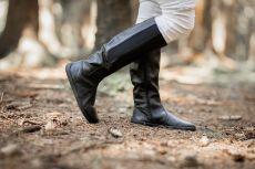Barefoot Barefoot kozačky Be Lenka Sierra – Black bosá