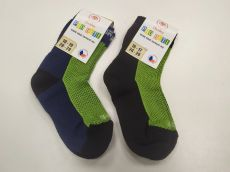 Barefoot Dětské Surtex merino ponožky froté - tenké zelené bosá