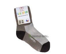 Dětské Surtex merino sportovní ponožky froté - béžové