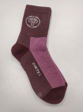 Dětské Surtex merino sportovní ponožky froté - fialkové