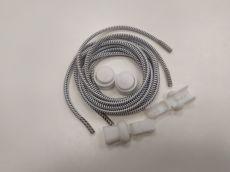 Elastické tkaničky Easy tie bílé s černými proužky