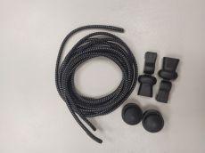 Elastické šnúrky Easy rozhodujuca čierne s bielymi prúžkami