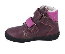 Barefoot Jonap zimní barefoot boty B4MV vínová bosá