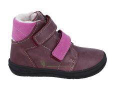 Jonap zimní barefoot boty B4MV vínová