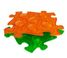 Ortopedická Podlaha MUFFIK puzzle Dino vejce měkké | oranžové, zelený
