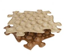 Ortopedická podlaha MUFFIK puzzle Ořechy | béžové, hnedá