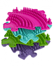 Ortopedická podlaha MUFFIK puzzle Twister tvrdý | fialové