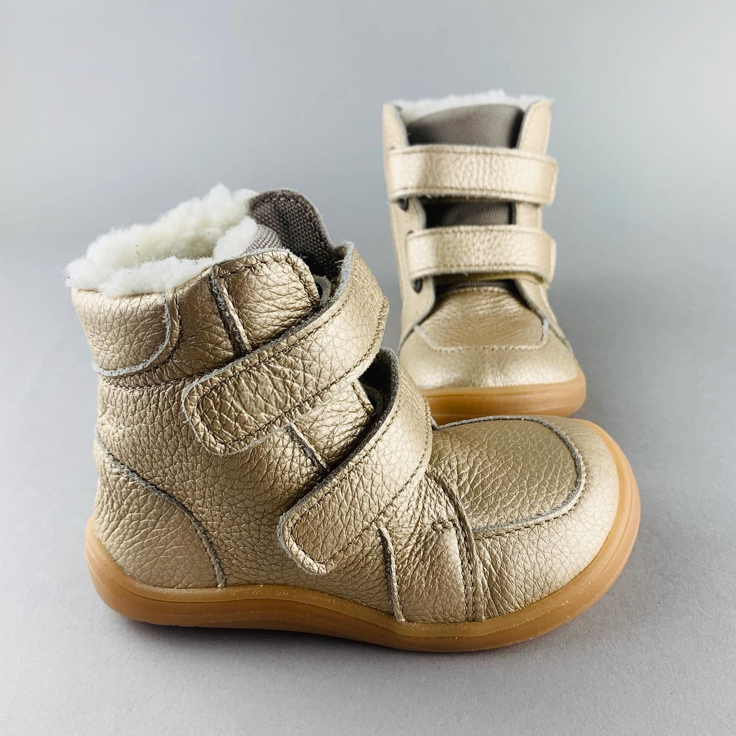 Barefoot BABY BARE WINTER Gold BABY BARE SHOES bosá