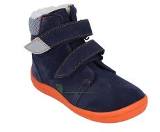 Barefoot Beda Barefoot - Blue mandarine - zimní boty s membránou model 2020 bosá