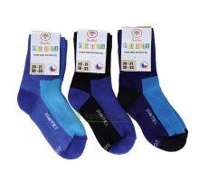 Dětské Surtex merino sportovní ponožky froté - modré