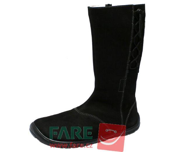Barefoot FARE BARE dámské zimní kozačky B5842201 bosá