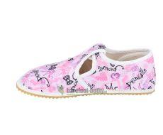 Barefoot Jonap papučky růžové princess bosá