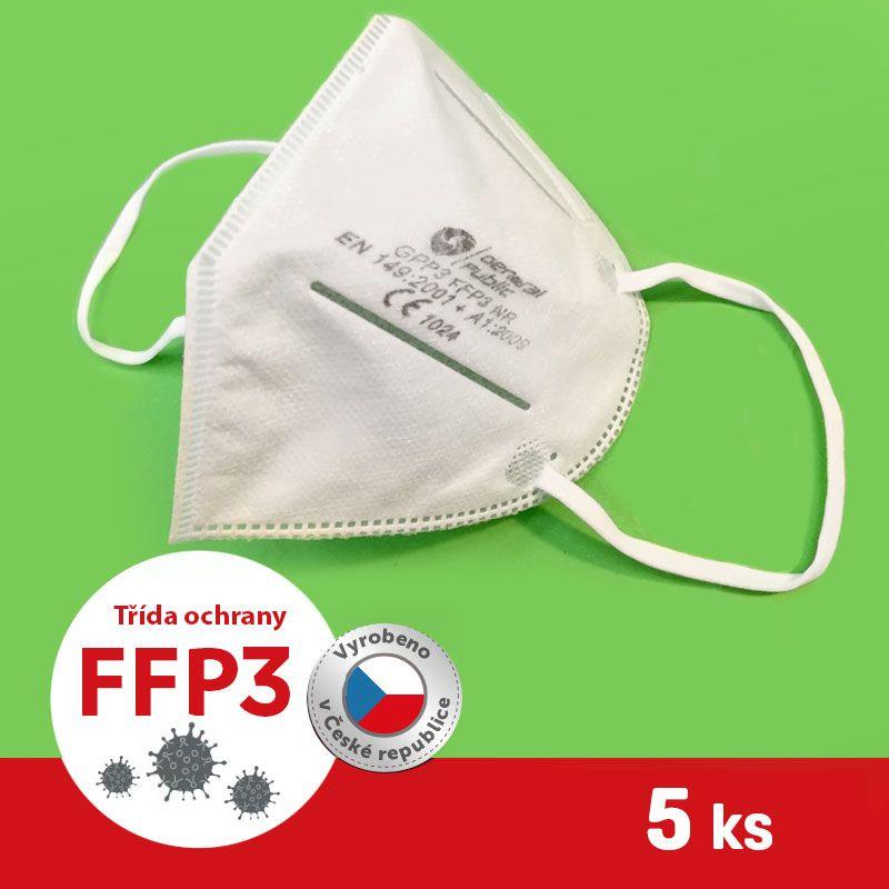 Barefoot Respirátor / Filtrační polomaska FFP3 5 ks bosá