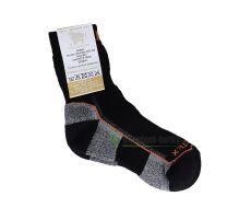 Surtex ponožky froté - 95 % merino černé s oranžovým nápisem