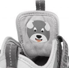 Barefoot Dětské barefoot botičky Affenzahn Lowcut Cotton Dog-Grey bosá