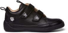 Detské barefoot topánočky Affenzahn lowcut Leather Panther-Triple Black | 25, 27