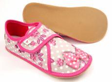 Barefoot Ef barefoot papučky 394 BUTTERFLY GREY - uzavřené bosá