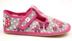 Ef barefoot papučky 395 Butterfly grey