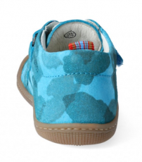 Barefoot Barefoot celoroční boty KOEL4kids - Bernardinho cyan camo bosá