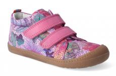 Barefoot Barefoot celoroční boty KOEL4kids - Bernardinho fuchsia flowers bosá