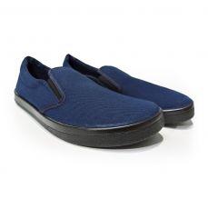 Barefoot Barefoot slip on Anatomic modré s černou podrážkou bosá