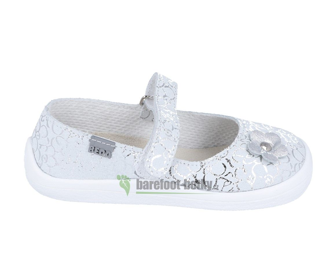 Barefoot Beda Barefoot baleriny Silver shine bosá