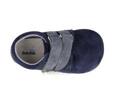 Barefoot Beda barefoot - KOŽENÉ CAPÁČKY Lucas - 2 suché zipy bosá