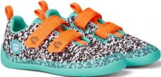 Detské barefoot topánky Affenzahn lowcut Knit Crab-Black / White / Pink | 27, 29, 30