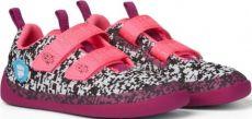 Dětské barefoot boty Affenzahn Lowcut Knit Flamingo-Black/White/Pink