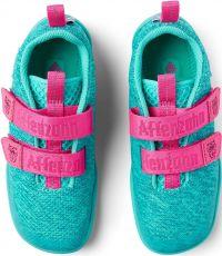 Barefoot Dětské barefoot boty Affenzahn Lowcut Knit Owl-Green bosá