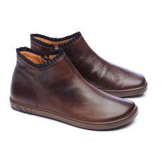 Kožené boty ZAQQ CHOQQO Dark Brown