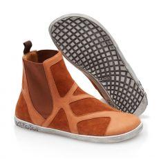 Barefoot Kožené boty ZAQQ QEY WEST Cognac bosá