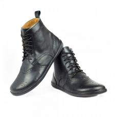 Kožené boty ZAQQ QUINTIC BROGUE Black