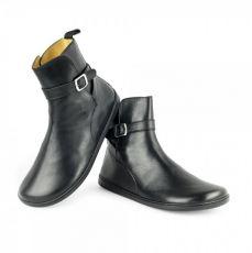 Barefoot Kožené boty ZAQQ RIQUET Black bosá