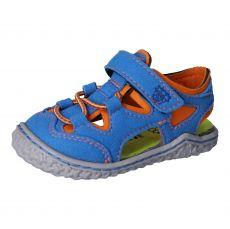 Barefoot sandálky RICOSTA Kenny azur / papaya | 20, 21, 22, 23, 24