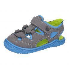 Barefoot sandálky RICOSTA Kenny graphit / sky | 20, 21, 22, 23, 24, 25, 26